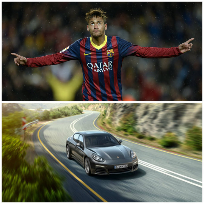 fotbalisti si masini